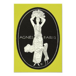 Cordero intrépido de la mujer de la moda del invitación 8,9 x 12,7 cm