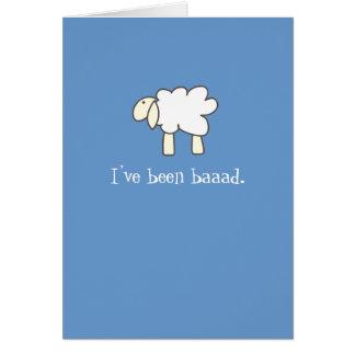 Cordero triste tarjeta de felicitación