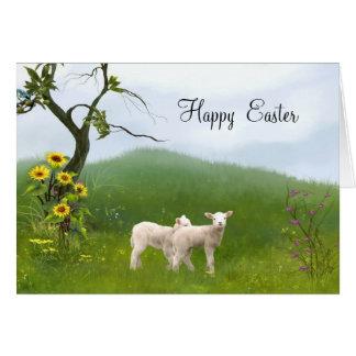 Corderos de Pascua Tarjeta De Felicitación