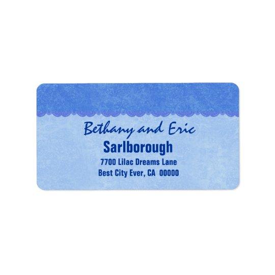 Cordón azul A301 Etiquetas De Dirección