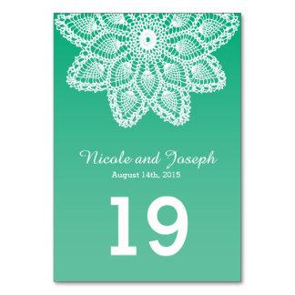 Cordón blanco - número de la tabla del boda