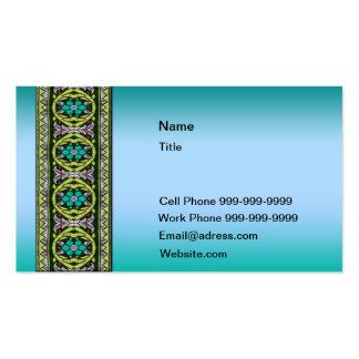 Cordón céltico en colores pastel azul tarjetas de visita