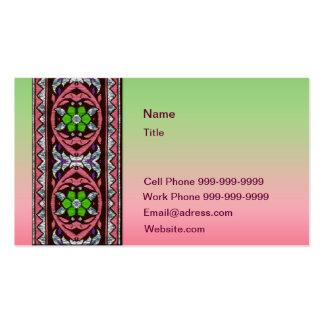Cordón céltico en colores pastel verde tarjetas de visita
