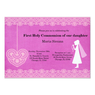 Cordón de la comunión santa (chica) invitación 12,7 x 17,8 cm