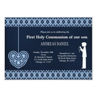 Cordón de la comunión santa (muchacho) invitación 12,7 x 17,8 cm
