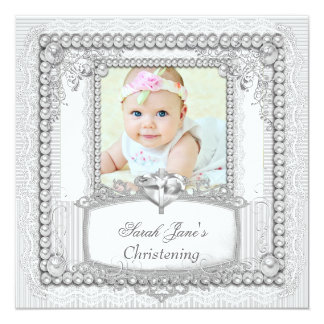 Cordón de la perla del bautismo del bautizo de la invitaciones personales
