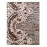 cordón de madera del país occidental del granero cuaderno