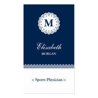 Cordón del azul del médico de los deportes tarjetas de visita