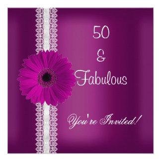 Cordón fabuloso de la fiesta de cumpleaños de la f invitacion personal