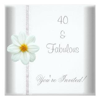 Cordón fabuloso de la fiesta de cumpleaños de la invitación 13,3 cm x 13,3cm