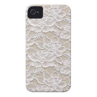 Cordón floral del vintage Case-Mate iPhone 4 cárcasas