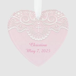 Cordón rosado, blanco, religioso