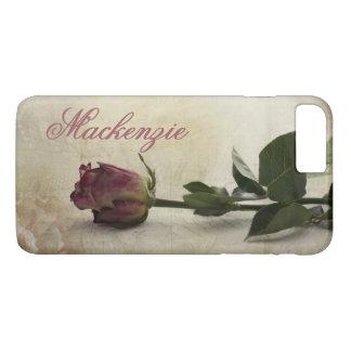 Cordón rosado romántico oscuro conocido color de funda para iPhone 8 plus/7 plus