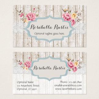Cordón rústico floral elegante lamentable de tarjeta de visita