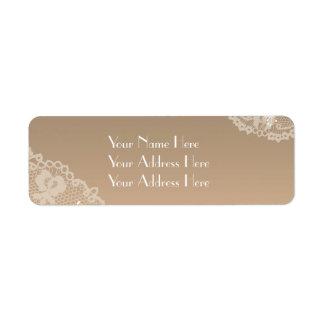 Cordón y etiquetas de dirección florales del boda
