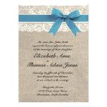 Cordón y invitación blancos del boda de la arpille
