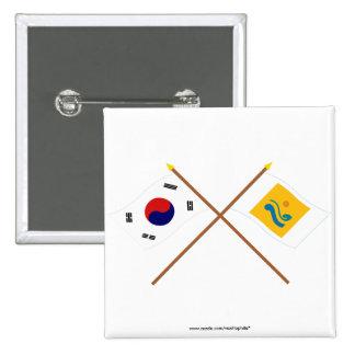 Corea cruzada y Chollanam-hace las banderas Pin