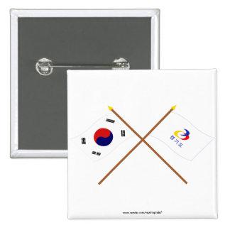 Corea cruzada y Kyonggi-hace las banderas Pin
