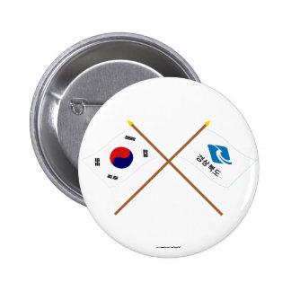 Corea cruzada y Kyongsangbuk-hace las banderas Pin
