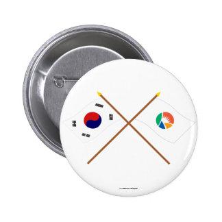 Corea cruzada y Kyongsangnam-hace las banderas Pin