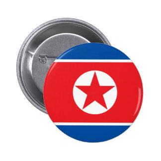 Corea del norte chapa redonda de 5 cm