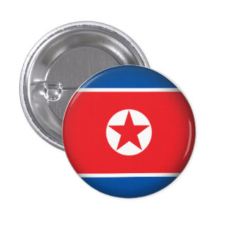 Corea del Norte redonda Pins