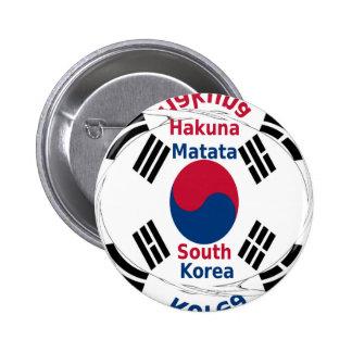 Corea del Sur Chapa Redonda De 5 Cm