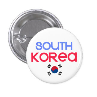 Corea del Sur y a (bandera surcoreana) Chapa Redonda 2,5 Cm
