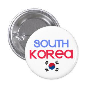 Corea del Sur y a (bandera surcoreana) Chapa Redonda De 2,5 Cm