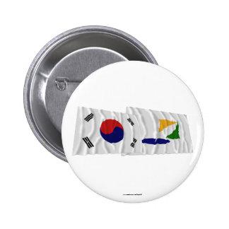 Corea y Kangwon-hace las banderas que agitan Pins