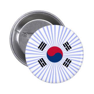 Coreana de Bandera Chapa Redonda De 5 Cm