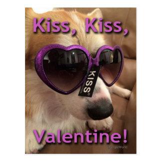 Corgi de la tarjeta del día de San Valentín del