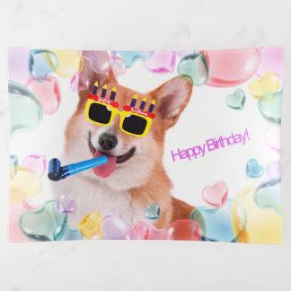 Corgi del feliz cumpleaños