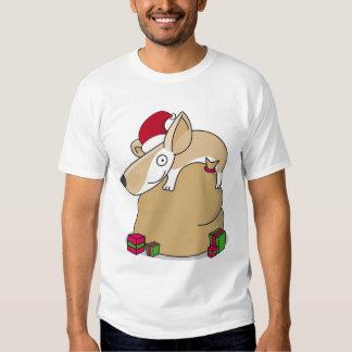 Corgi en un saco del navidad camiseta