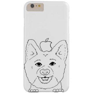 Corgi ilustrado con la manzana funda barely there iPhone 6 plus