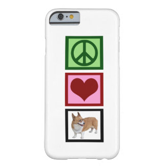 Corgis del amor de la paz funda de iPhone 6 barely there