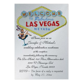 Corista de Las Vegas de la invitación de la Tarjetas De Visita Grandes