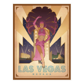 Corista de Las Vegas, Nevada el   Postal