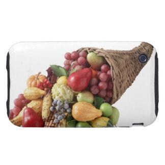 Cornucopia de la fruta y de las verduras carcasa resistente para iPhone