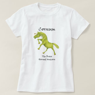 Cornum la camiseta Latón-De cuernos del unicornio