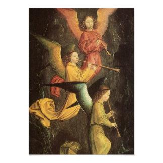 Coro de ángeles de Simon Marmion, arte Invitación 12,7 X 17,8 Cm