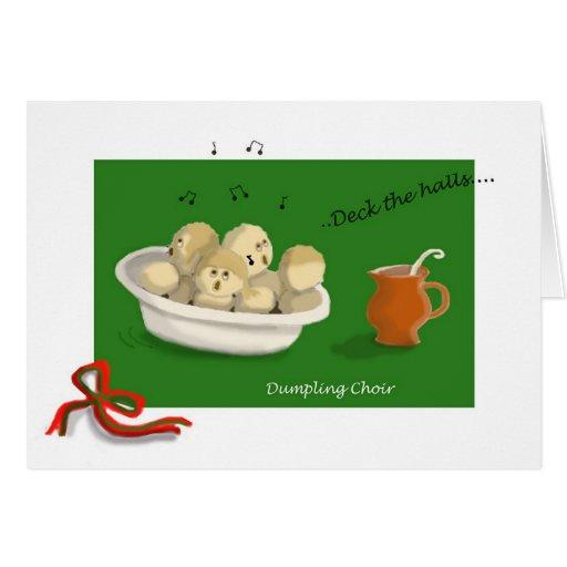 Coro de la bola de masa hervida del navidad felicitacion
