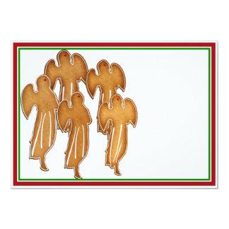 Coro de la galleta del ángel invitación 12,7 x 17,8 cm