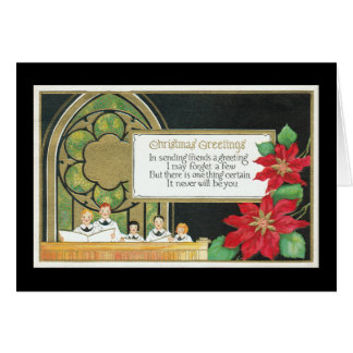 Coro de la juventud del navidad, iglesia, Poinsett Tarjetas