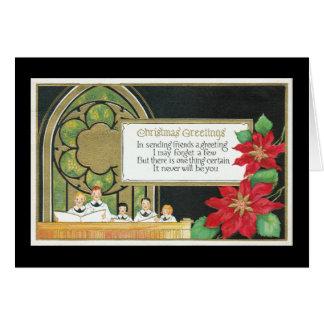 Coro de la juventud del navidad, iglesia, Poinsett Tarjeta De Felicitación