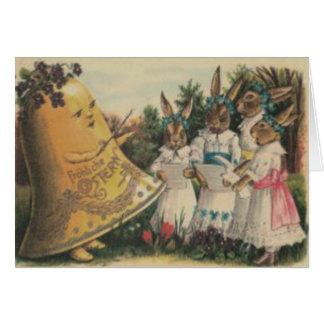 Coro de la margarita del lirio de Bell del conejit Felicitacion