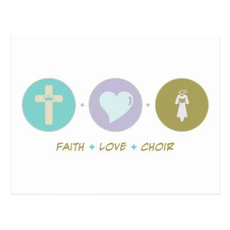 Coro del amor de la fe tarjetas postales