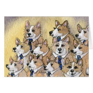 Coro del aullido del perro del Corgi Galés Felicitación