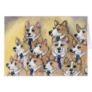 Coro del aullido del perro del Corgi Galés Tarjeta