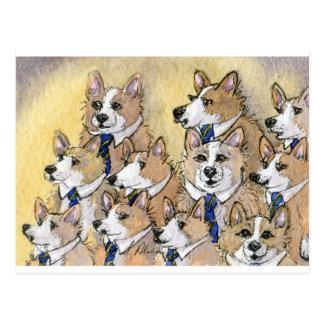 Coro del aullido del perro del Corgi Galés Postales